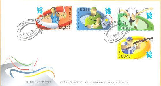 London 2012 Stamps - Cyprus - 4 stamps Philat11