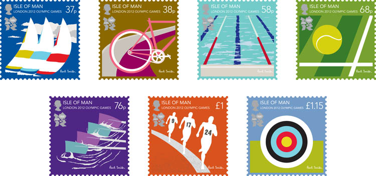 London 2012 Stamps - Isle of Man - 8 stamps Philat12