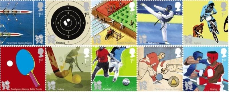 Timbres officiels (Royaume Uni) des Jeux Olympiques de Londres 2012 Philat14