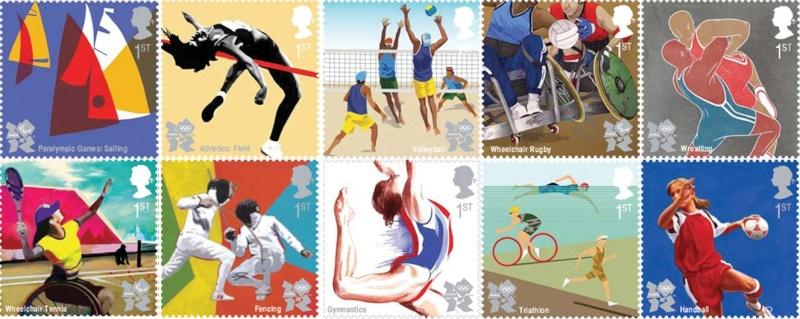 Timbres officiels (Royaume Uni) des Jeux Olympiques de Londres 2012 Philat15