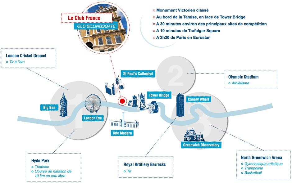Londres 2012 - Equipe de France - Le Club France Plan10