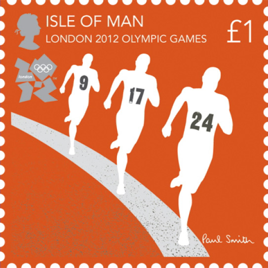 London 2012 Stamps - Isle of Man - 8 stamps Runnin10