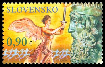 Timbre Slovaquie - Jeux Olympiques et Paralympiques de Londres 2012 (Flamme olympique et athlétisme handisport) Slovak10