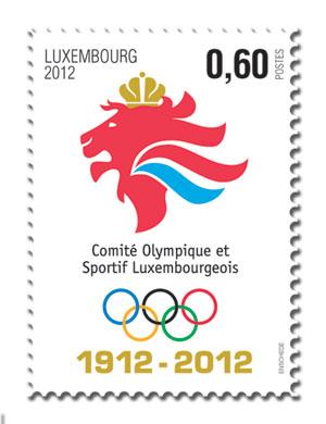 Timbre Luxembourg - Centenaire du Comité National Olympique Timbre10