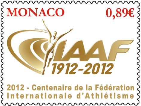 Monaco - Timbre (Athlétisme) Centenaire de l'IAAF Timbre10