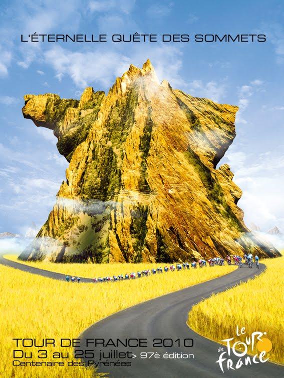 Affiche officielle du Tour de France cycliste 2010 Visuel10