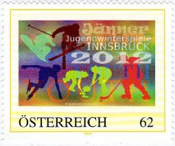 A second stamp in Austria to celebrate the 1st Winter Youth Olympic Games, Innsbruck 2012 Yog20p10