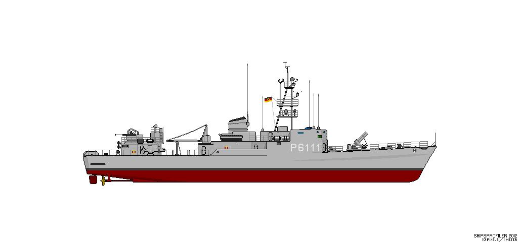Thetis (Klasse 420) vs Hai (Projekt 12) Fskl4210