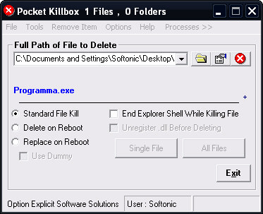 Cancellare file bloccati da Windows - Pocket KillBox Pocket10