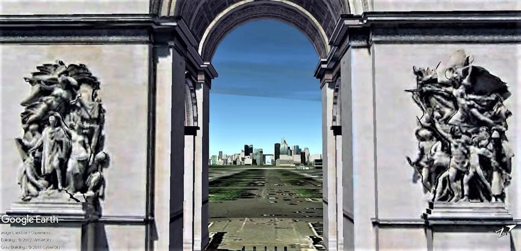 Arc de triopmphe en 3D effet BOKEH  Arc_de10