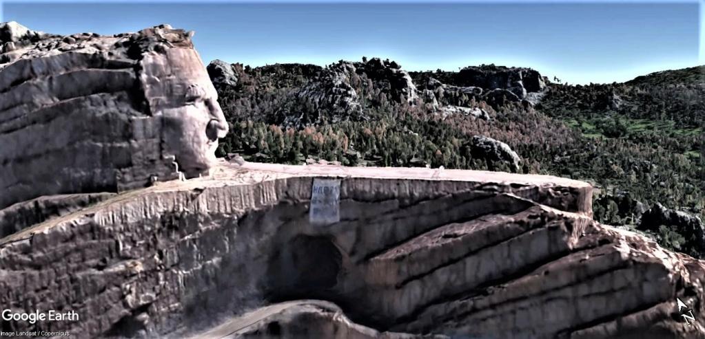 Le mémorial Sioux de Crazy Horse dans le Dakota aux États-Unis. Crazy_12