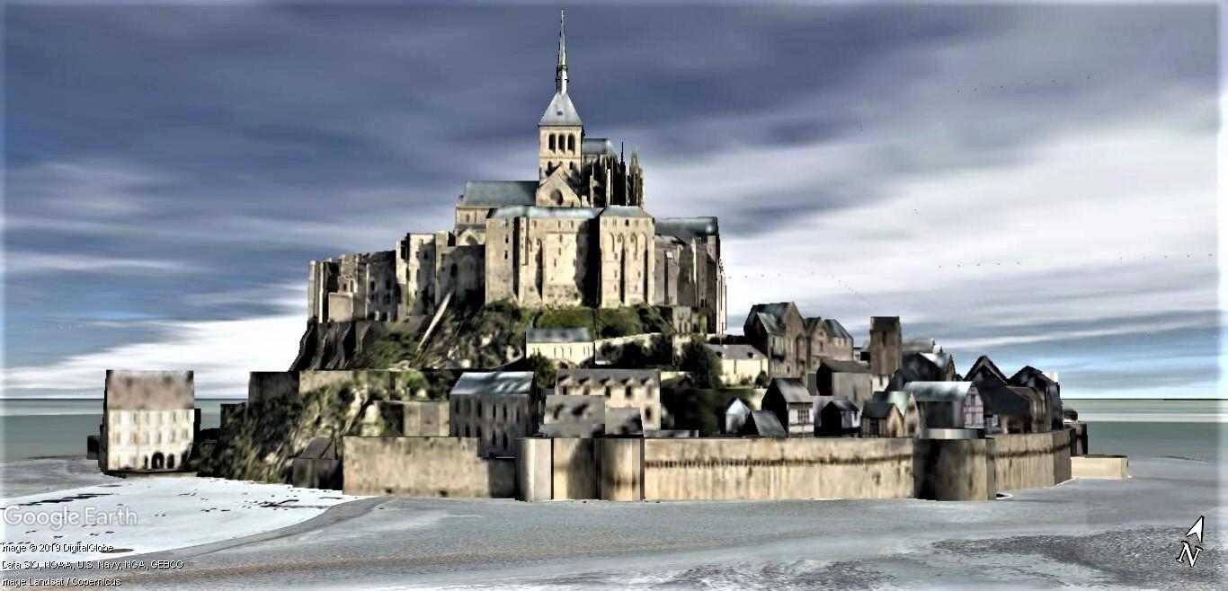 Visite Google Earth du Mont-Saint-Michel en France !! !! Mont-s33