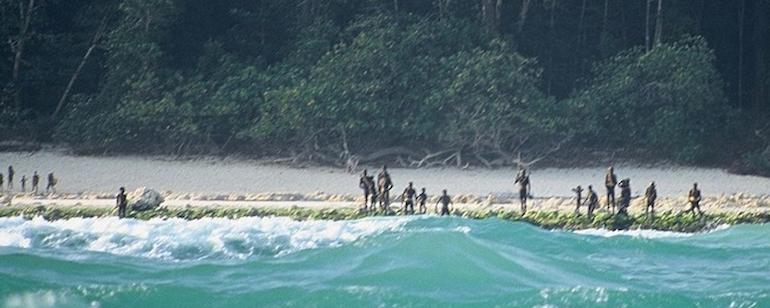 Île de North Sentinel, l'une des îles Andaman dans le golfe du Bengale !! North-10