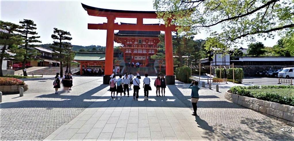 """Les sanctuaires et temples japonais vu avec Google Earth &  """"En premier """"Le sanctuaire Fushimi Inari-taisha, Kyoto, Japon  & Le temple bouddhiste Tōfuku-ji"""" !! Sanctu16"""