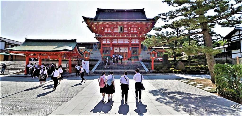 """Les sanctuaires et temples japonais vu avec Google Earth &  """"En premier """"Le sanctuaire Fushimi Inari-taisha, Kyoto, Japon  & Le temple bouddhiste Tōfuku-ji"""" !! Sanctu17"""