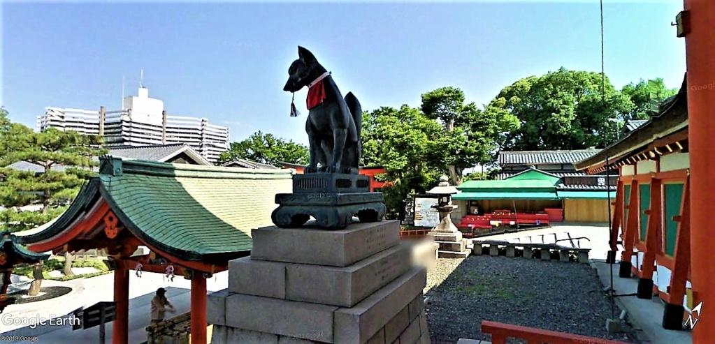 """Les sanctuaires et temples japonais vu avec Google Earth &  """"En premier """"Le sanctuaire Fushimi Inari-taisha, Kyoto, Japon  & Le temple bouddhiste Tōfuku-ji"""" !! Sanctu18"""