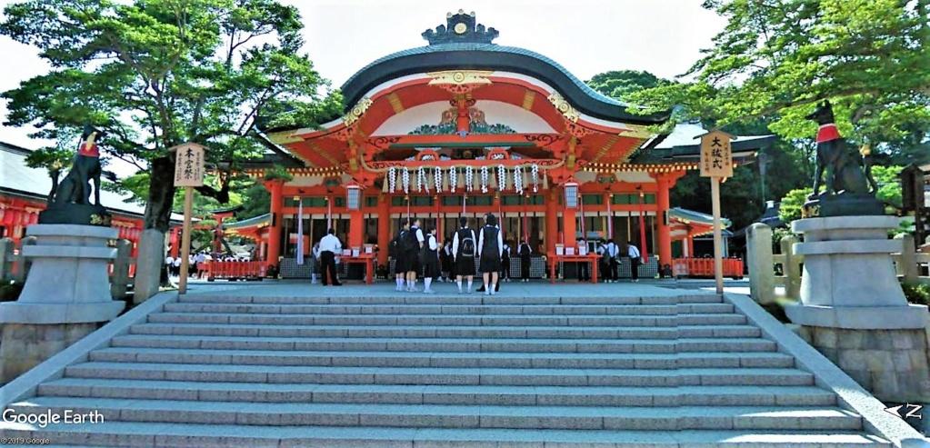"""Les sanctuaires et temples japonais vu avec Google Earth &  """"En premier """"Le sanctuaire Fushimi Inari-taisha, Kyoto, Japon  & Le temple bouddhiste Tōfuku-ji"""" !! Sanctu19"""