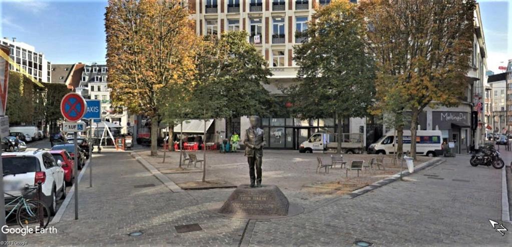 Léon Trulin lors de la première Guerre mondiale « Le 7 novembre 1915, est mort fusillé vers 3 h 1/4 » à  Lille en France. Statue13