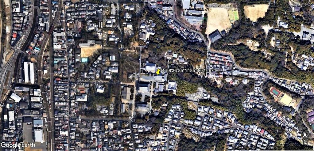 """Les sanctuaires et temples japonais vu avec Google Earth &  """"En premier """"Le sanctuaire Fushimi Inari-taisha, Kyoto, Japon  & Le temple bouddhiste Tōfuku-ji"""" !! Temple17"""