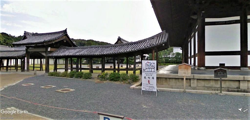 """Les sanctuaires et temples japonais vu avec Google Earth &  """"En premier """"Le sanctuaire Fushimi Inari-taisha, Kyoto, Japon  & Le temple bouddhiste Tōfuku-ji"""" !! Temple18"""