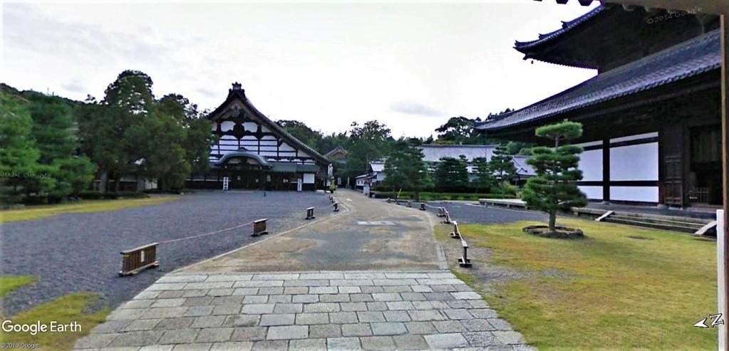 """Les sanctuaires et temples japonais vu avec Google Earth &  """"En premier """"Le sanctuaire Fushimi Inari-taisha, Kyoto, Japon  & Le temple bouddhiste Tōfuku-ji"""" !! Temple19"""
