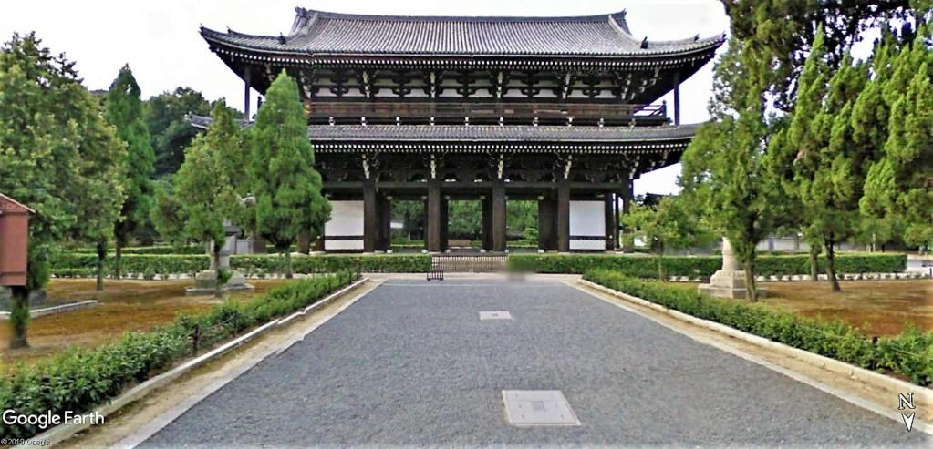 """Les sanctuaires et temples japonais vu avec Google Earth &  """"En premier """"Le sanctuaire Fushimi Inari-taisha, Kyoto, Japon  & Le temple bouddhiste Tōfuku-ji"""" !! Temple21"""
