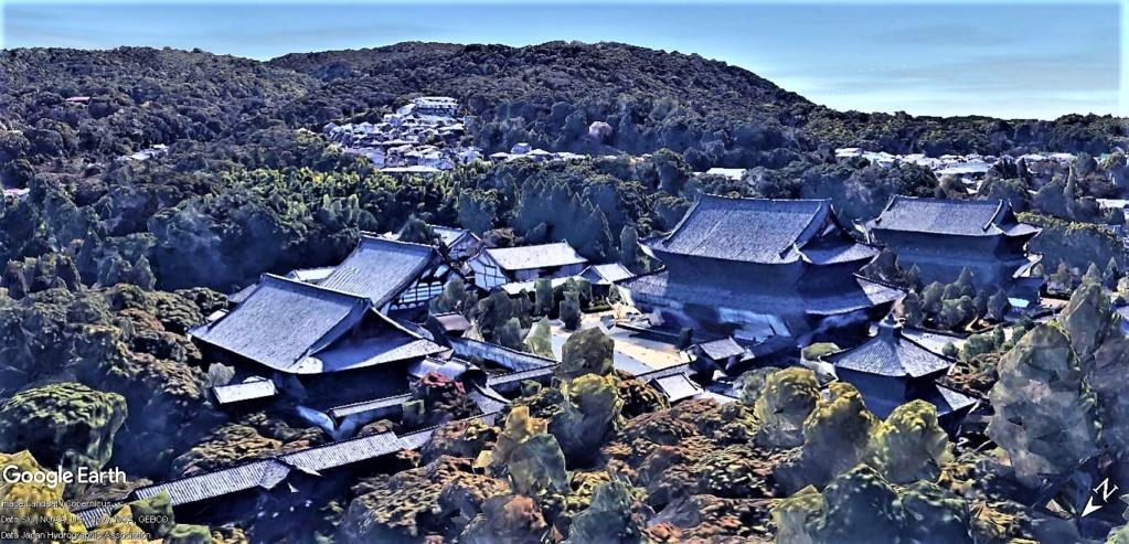 """Les sanctuaires et temples japonais vu avec Google Earth &  """"En premier """"Le sanctuaire Fushimi Inari-taisha, Kyoto, Japon  & Le temple bouddhiste Tōfuku-ji"""" !! Temple22"""