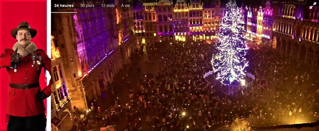 Le marché de Noël à Bruxelles en Belgique. Webcam10