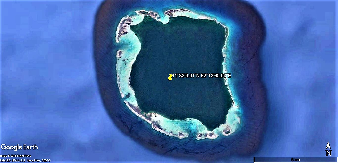 Île de North Sentinel, l'une des îles Andaman dans le golfe du Bengale !! Zule_d11
