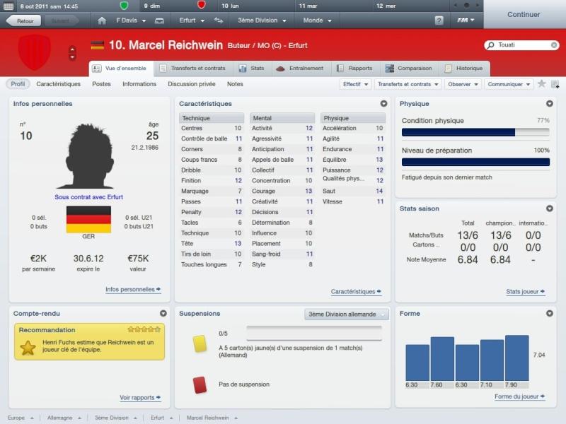 Story 1:FC RW Erfurt-Fahed Davis la matien a tout prix[Saison 1 Octobre-Novembre]FM2012 2012-025