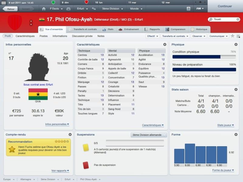 Story 1:FC RW Erfurt-Fahed Davis la matien a tout prix[Saison 1 Octobre-Novembre]FM2012 2012-026