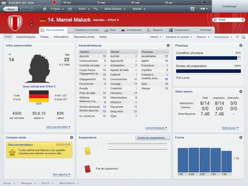 Story 1:FC RW Erfurt-Fahed Davis la matien a tout prix[Saison 1 Octobre-Novembre]FM2012 2012-029