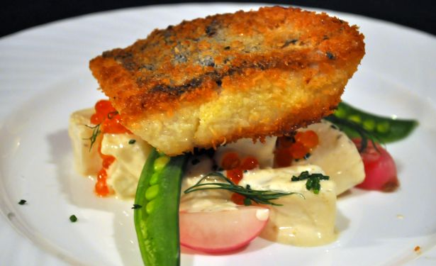 Fried Fish with Summer Potato Vegetable Salad ~~~  Perch10