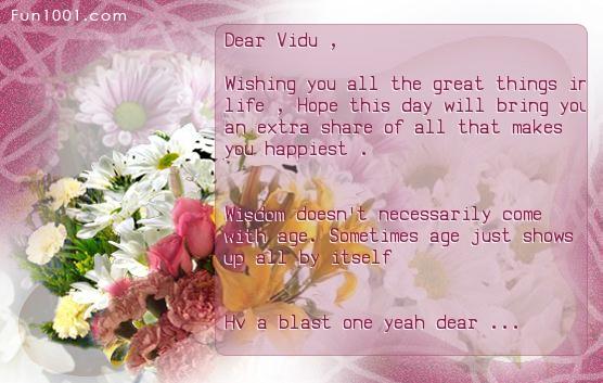 Joyful Birthday Wishes Homely dear ~~~  Vidu_210