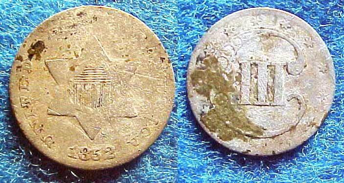Silver Three Cent Piece. 1852_210