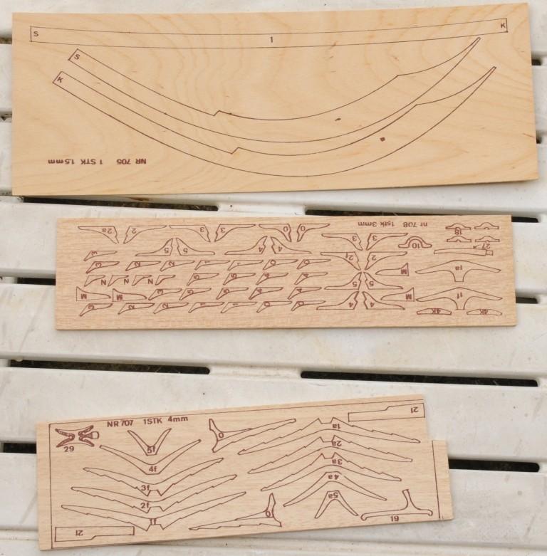 Skuldelevschiff - Ein älterer Bausatz von Billing Boats in 1:25  Dsc_7323