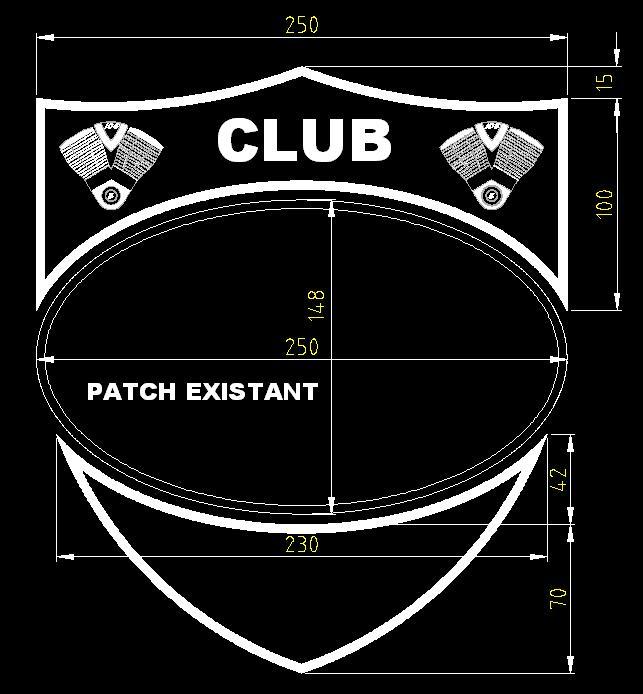 """Additifs """"Club"""" au grand patch Noir & Blanc Vrf_ad10"""
