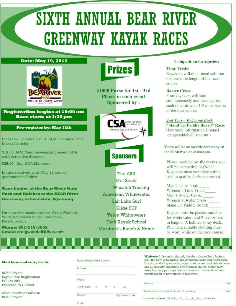 BEARiverfest 2012 edition; May 19th. Kayakr11