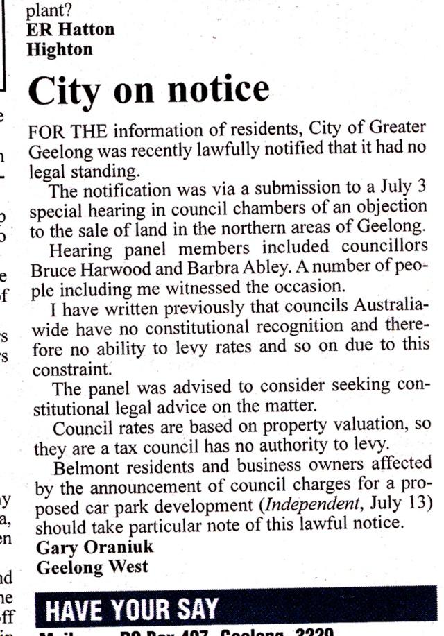stop paying council rates Dubiou13