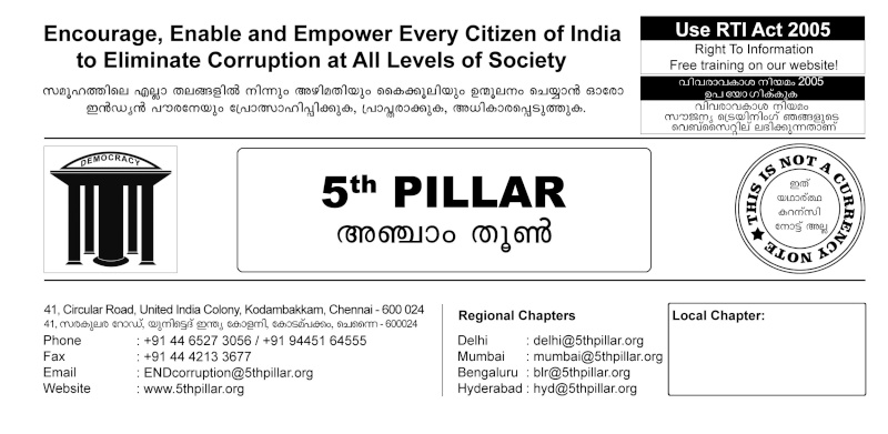 Suggest measures for the eradication of wide spread corruption in public life in India Malaya12