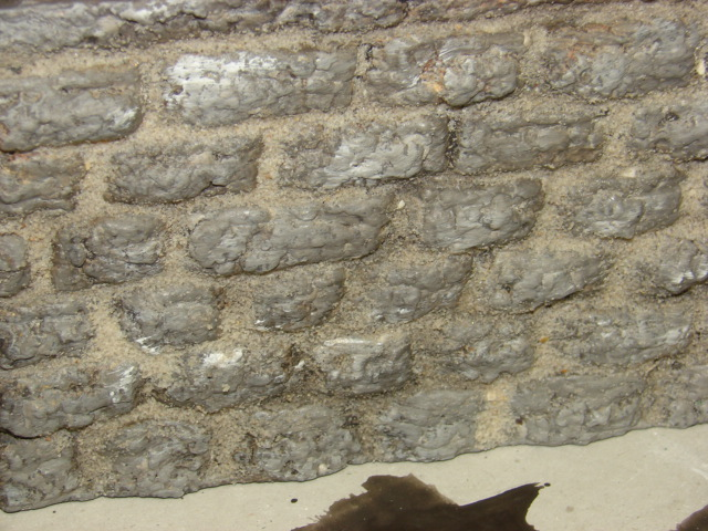 Bruchsteinmauer aus Styropor mit Lötkolben 1:22.5 Dsc04325