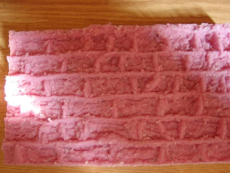 Bruchsteinmauer aus Styropor mit Lötkolben 1:22.5 Dsc04416