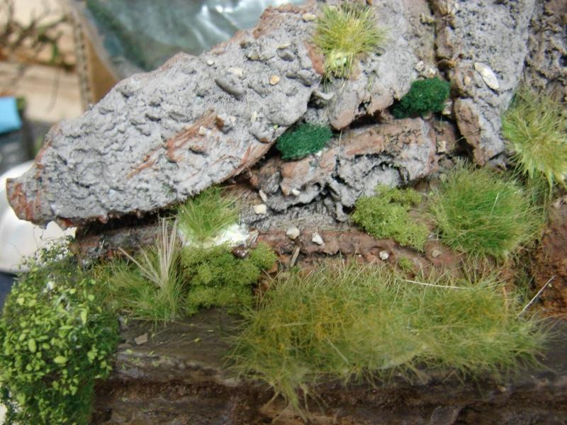 Alter verlassener Vorgarten mit großer Stützmauer Dsc04615
