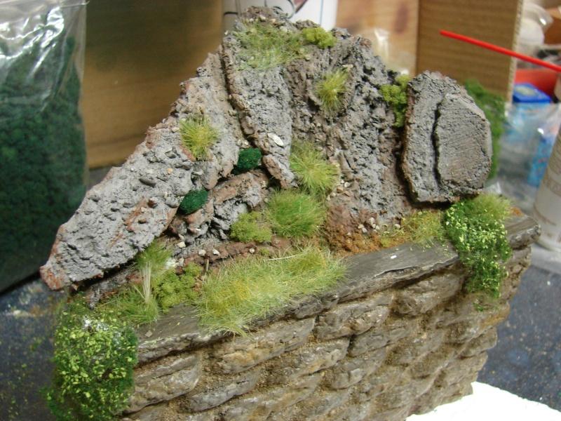 Alter verlassener Vorgarten mit großer Stützmauer Dsc04618