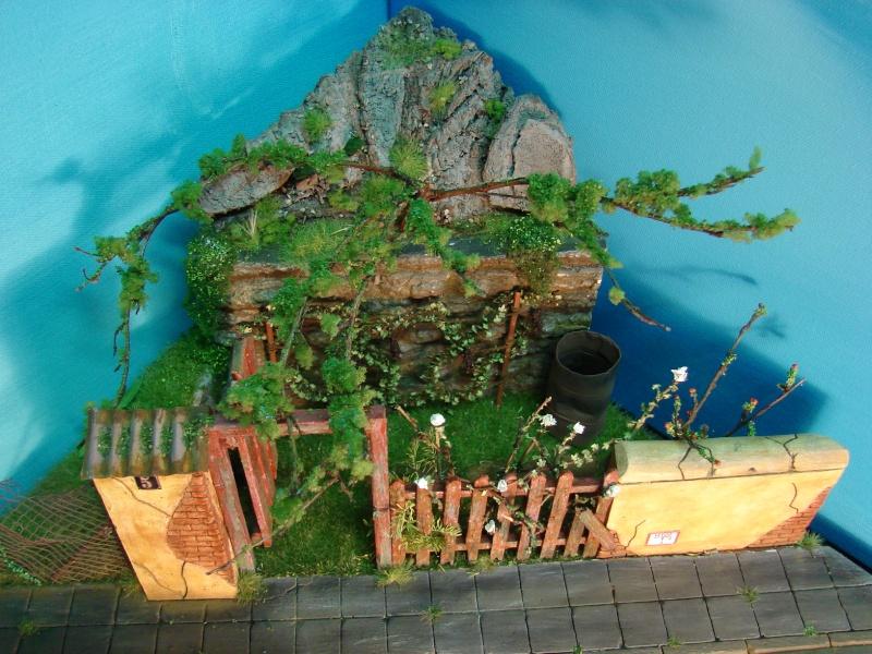 Vorgarten mit altem Zaun und Stützmauer Dsc04825