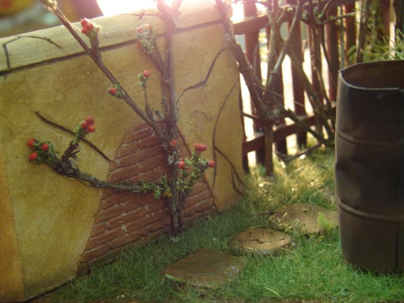 Vorgarten mit altem Zaun und Stützmauer Dsc04910
