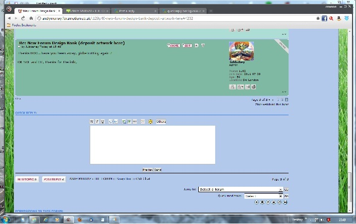 quick reply box bg colour problem Chrome11