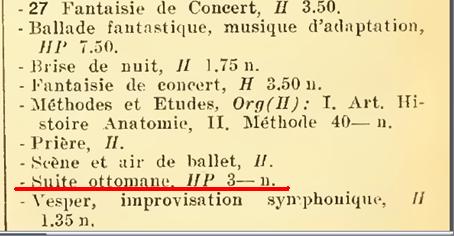 """Alphonse MUSTEL: """"Scène / Suite ottomane"""": Composition mystérique Ankuen10"""