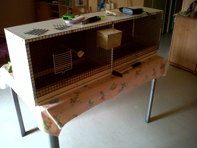 cage d 'élevage en fabrication Img00024