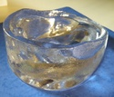 Moulded clear glass hand paperweight / ashtray - Id? Dscn0327